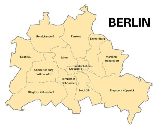 Karte Bezirke Berlin