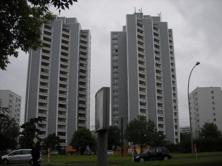 Hochhäuser in Berlin Mahrzahn